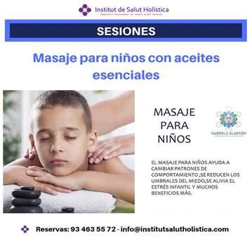 SESIÓN: MASAJE PARA NIÑOS, ACEITES ESENCIALES E...