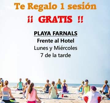 MASTERCLASS YOGA GRATIS EN PLAYA FARNALS - 7 TARDE