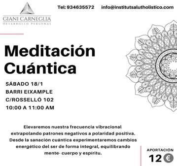 EVENTO: MEDITACIÓN CUÁNTICA