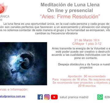 QUEDADA: MEDITACIÓN DE LUNA LLENA ARIES. 21 MAR...