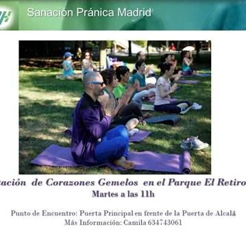 QUEDADA: MEDITACIÓN EN EL PARQUE EL RETIRO. MADRID