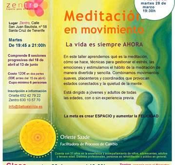 CLASE: MEDITACIÓN EN MOVIMIENTO CLASE ABIERTA