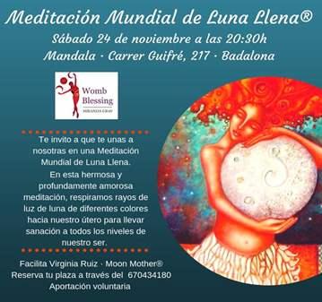 SESIÓN: MEDITACIÓN MUNDIAL DE LUNA LLENA