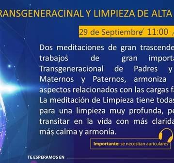 EVENTO: TRANSGENERACIONAL Y LIMPIEZA DE ALTA VI...