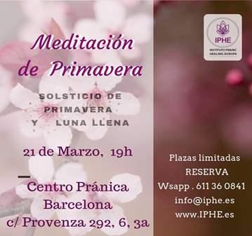 SESIÓN: MEDITACIÓN SOLSTICIO DE PRIMAVERA Y LUN...