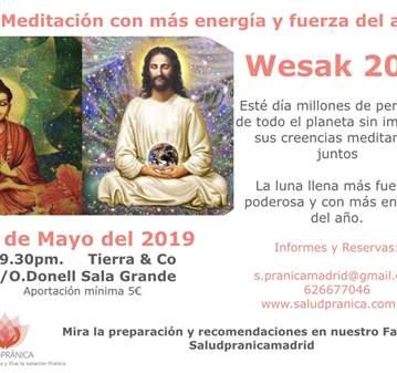 QUEDADA: MEDITACIÓN WESAK O LUNA LLENA DE TAURO