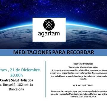 TALLER: MEDITACIONES PARA RECORDAR-AGARTAM