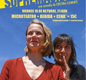EVENTO: MICROTEATRO, CENA Y BEBIDA POR SOLO 15€