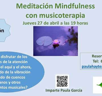 EVENTO: MINDFULNESS CON MUSICOTERAPIA