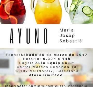 CURSO: MONOGRÁFICO DE AYUNO TERAPÉUTICO