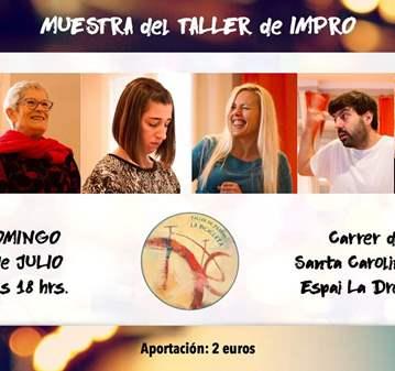 EVENTO: MUESTRA DEL TALLER DE IMPRO