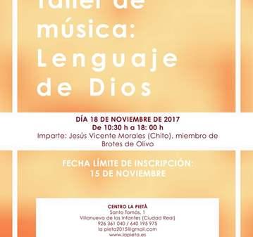 TALLER: MÚSICA: LENGUAJE DE DIOS