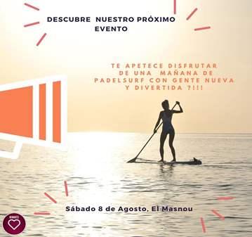QUEDADA: PADDEL SURF EN LA PLAYA DE MASNOU