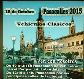 EVENTO: PASACALLES DEL PILAR 2015