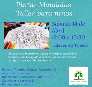 TALLER: PINTAR MANDALAS TALLER PARA NIÑOS