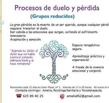 TALLER: PROCESOS DE DUELO Y PÉRDIDA