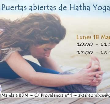 CLASE: PUERTAS ABIERTAS HATHA YOGA