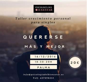 TALLER: QUERERSE MÁS Y MEJOR