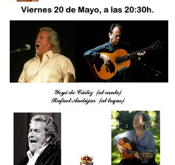 CONCIERTO: RECITAL DE CANTE FLAMENCO Y GUITARRA