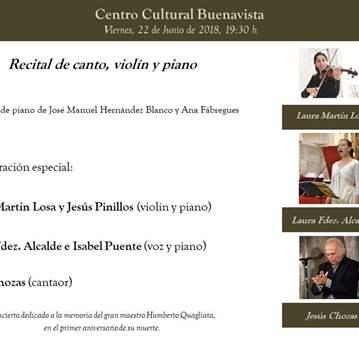CONCIERTO: RECITAL DE CANTO, VIOLÍN Y PIANO