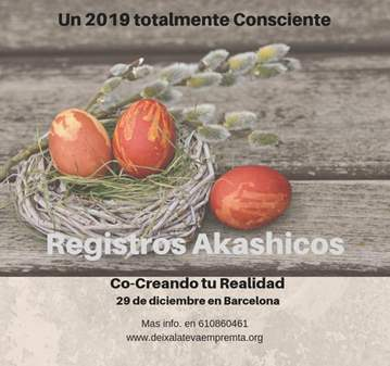 TALLER: REGISTROS AKASHICOS, CO-CREANDO TU REAL...