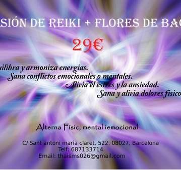 SESIÓN: REIKI + FLORES DE BACH - 20%