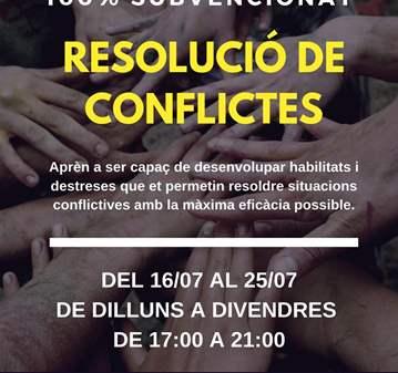 CURSO: RESOLUCIÓ DE CONFLICTES - 100% SUBVENCIONAT