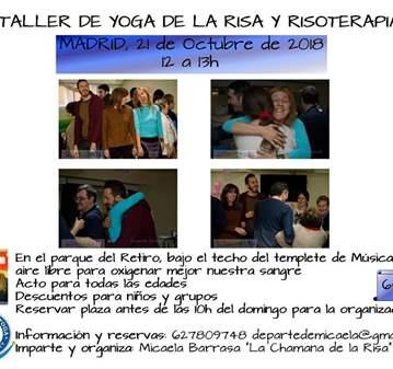 TALLER: RISOTERAPIA Y YOGA DE LA RISA AL AIRE L...