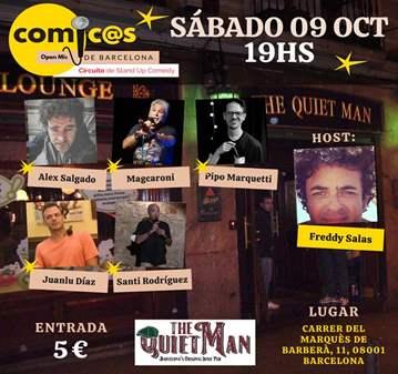 SÁBADO DE MONÓLOGOS CÓMIC@S DE BARCELONA 09-10-21