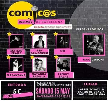 EVENTO: SÁBADOS CÓMIC@S DE BARCELONA 15-05-21