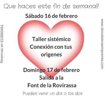 EXCURSIÓN: SALIDA FONT DE LA ROVIRASA