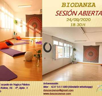 CLASE: SESIÓN ABIERTA DE BIODANZA