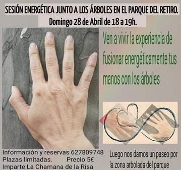 SESIÓN DE REIKI (ENERGÉTICA) JUNTO A LOS ÁRBOLES