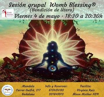 SESIÓN GRUPAL WOMB BLESSING® (BENDICIÓN DE ÚTERO)