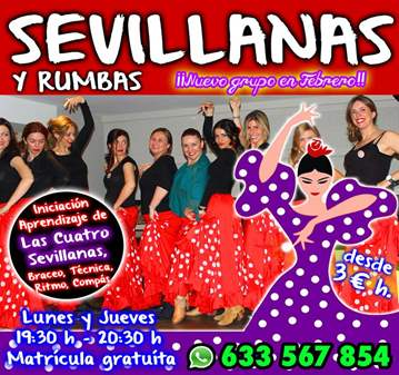 CLASE: SEVILLANAS Y RUMBAS EN VALENCIA