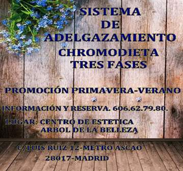 JORNADA: SISTEMA DE ADELGAZAMIENTO CHROMODIETA ...