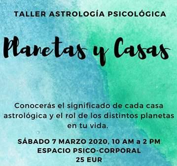 TALLER ASTROLOGÍA Y CASAS