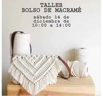 TALLER BOLSO DE MACRAMÉ