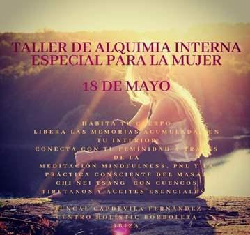 TALLER DE ALQUIMIA INTERNA ESPECIAL PARA LA MUJER