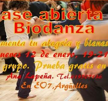 CLASE: TALLER DE BIODANZA
