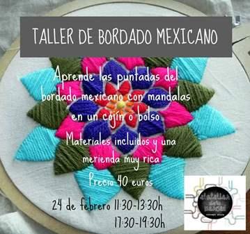 TALLER DE BORDADO MEXICANO