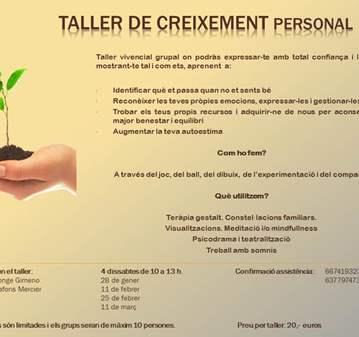TALLER DE CRECIMIENTO PERSONAL
