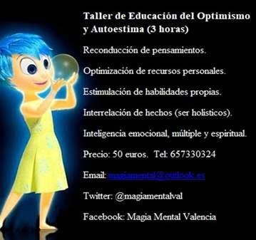 CLASE: TALLER DE EDUCACIÓN DEL OPTIMISMO