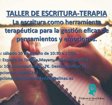 TALLER DE ESCRITURATERAPIA