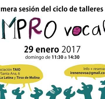 TALLER DE IMPROVISACIÓN VOCAL