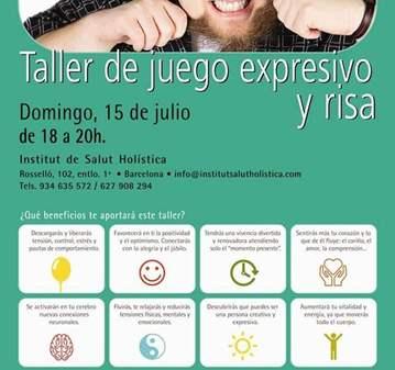 TALLER: DE JUEGO EXPRESIVO Y RISA