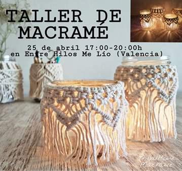 TALLER DE MACRAMÉ. PORTAVELAS