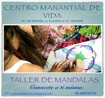 TALLER DE MANDALAS.   CONOCETE A TI MISMO.