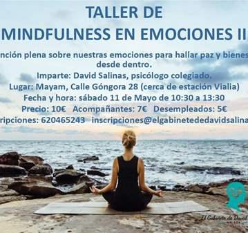 TALLER DE MINDFULNESS EN EMOCIONES