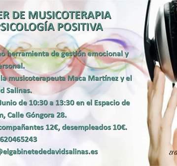 TALLER DE MUSICOTERAPIA Y PSICOLOGÍA POSITIVA